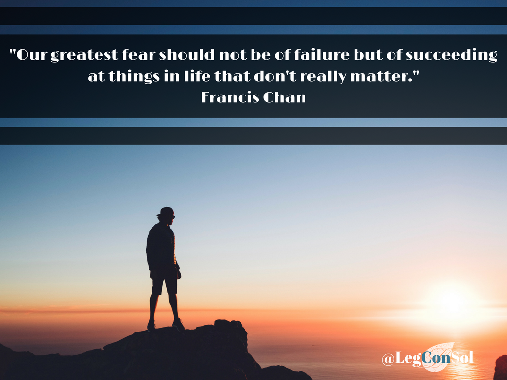 Our greatest fear should not be of failure but of succeeding at things in life that don't really matter. Francis Chan