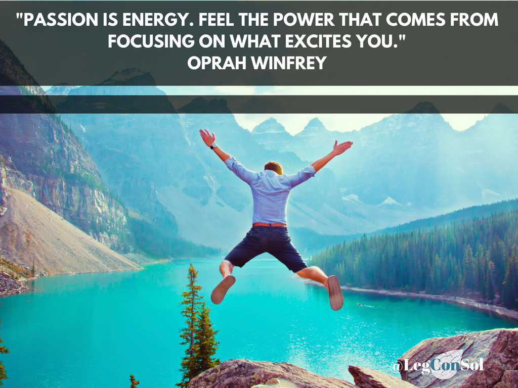 Passion is energy. Feel the power that comes from focusing on what excites you.~ Oprah Winfrey