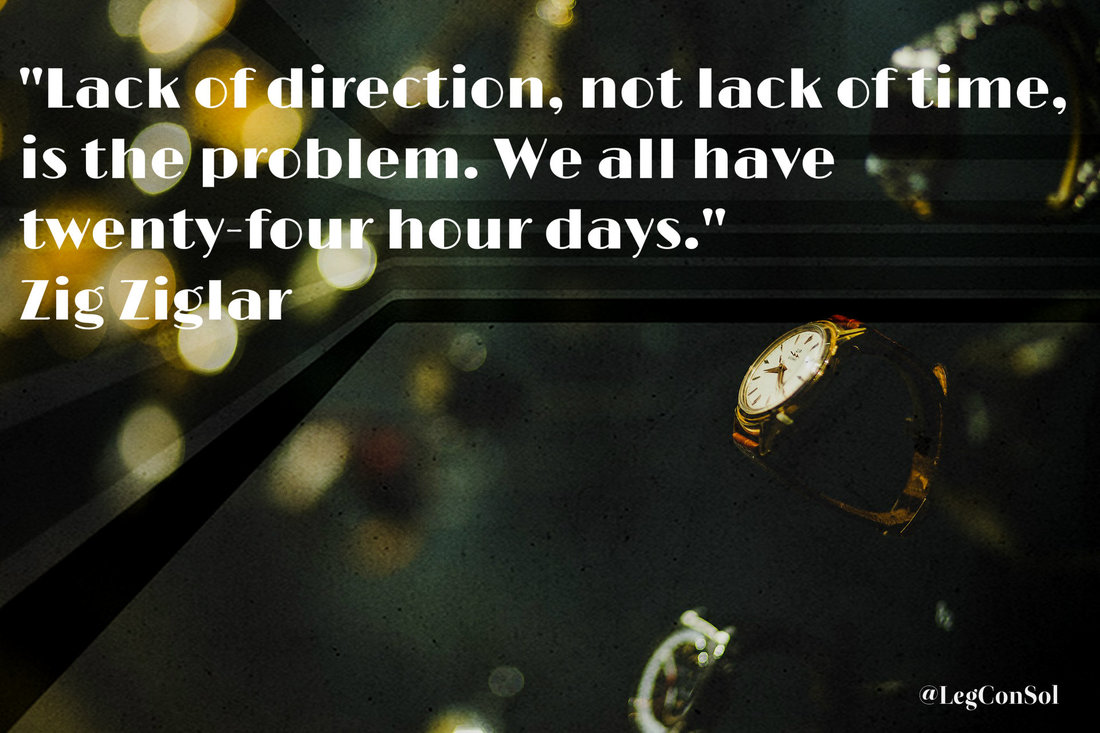Lack of direction, not lack of time, is the problem. We all have twenty-four hour days.~ Zig Ziglar