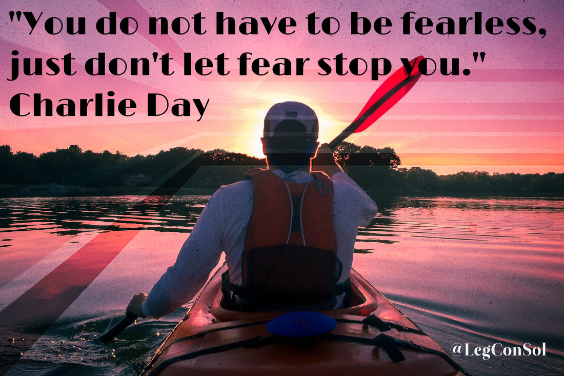 You do not have to be fearless, just don't let fear stop you.~ Charlie Day