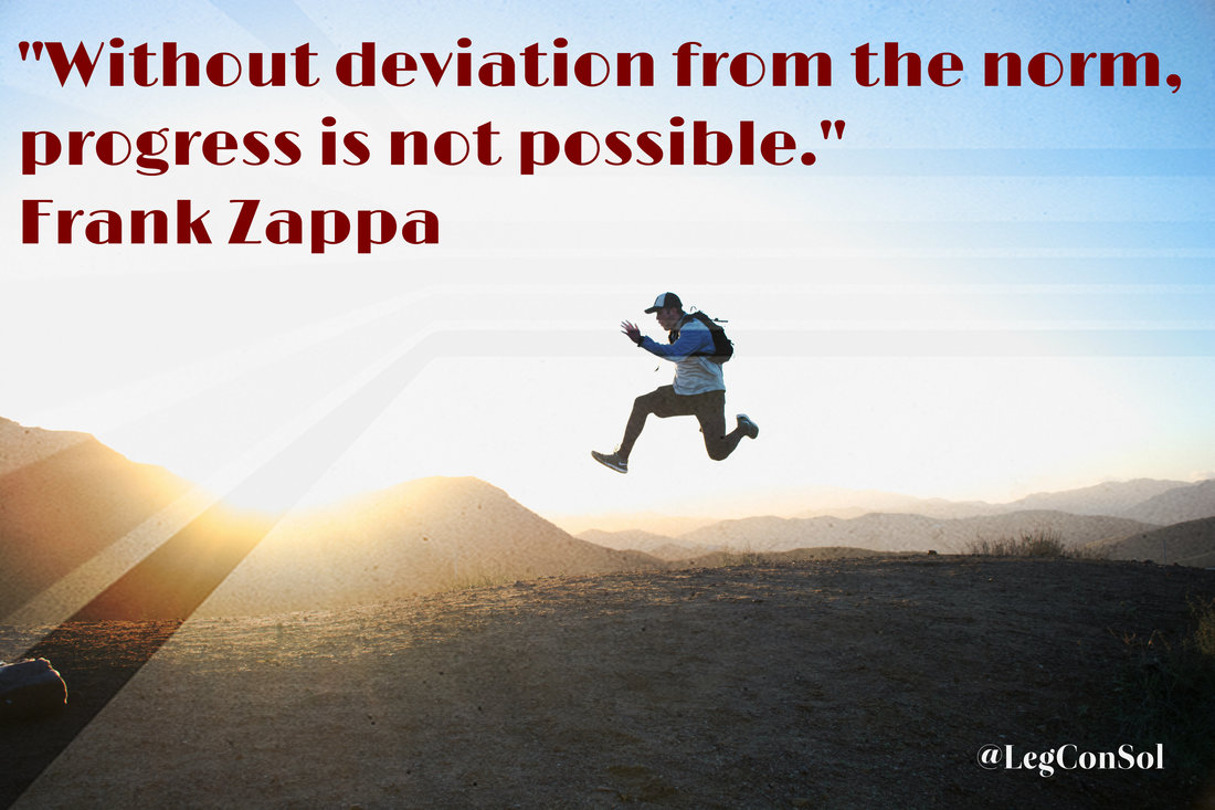 Without deviation from the norm, progress is not possible.~ Frank Zappa