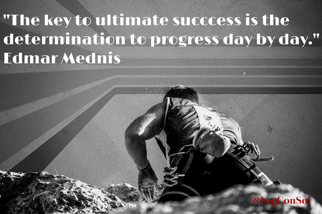 The key to ultimate success is the determination to progress day by day.~  Edmar Mednis