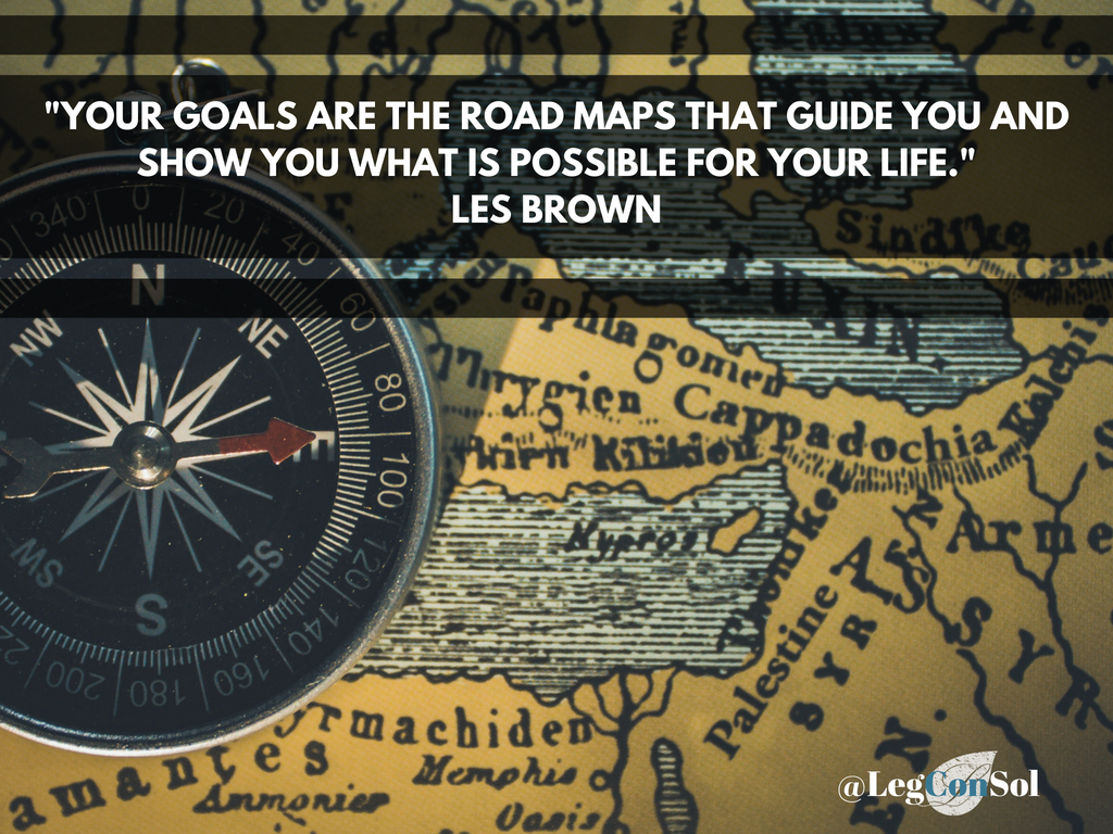 Your goals are the road maps that guide you and show you what is possible for your life.~ Les Brown