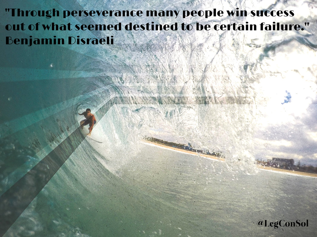 Through perseverance many people win success out of what seemed destined to be certain failure.~ Benjamin Disraeli