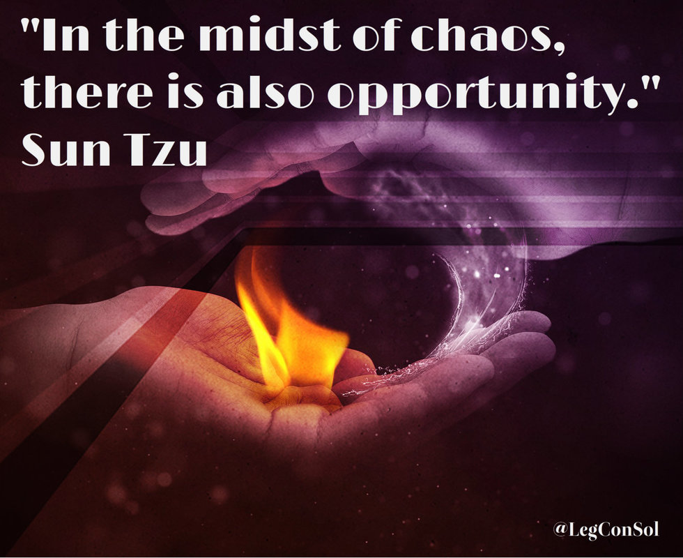 In the midst of chaos, there is also opportunity.~ Sun Tzu