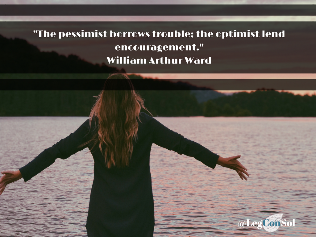 The pessimist borrows trouble; the optimist lends encouragement.~ William Arthur Ward