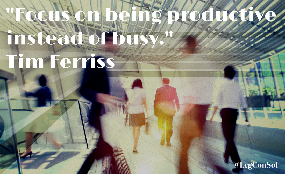 Focus on being productive instead of busy.~ Tim Ferriss