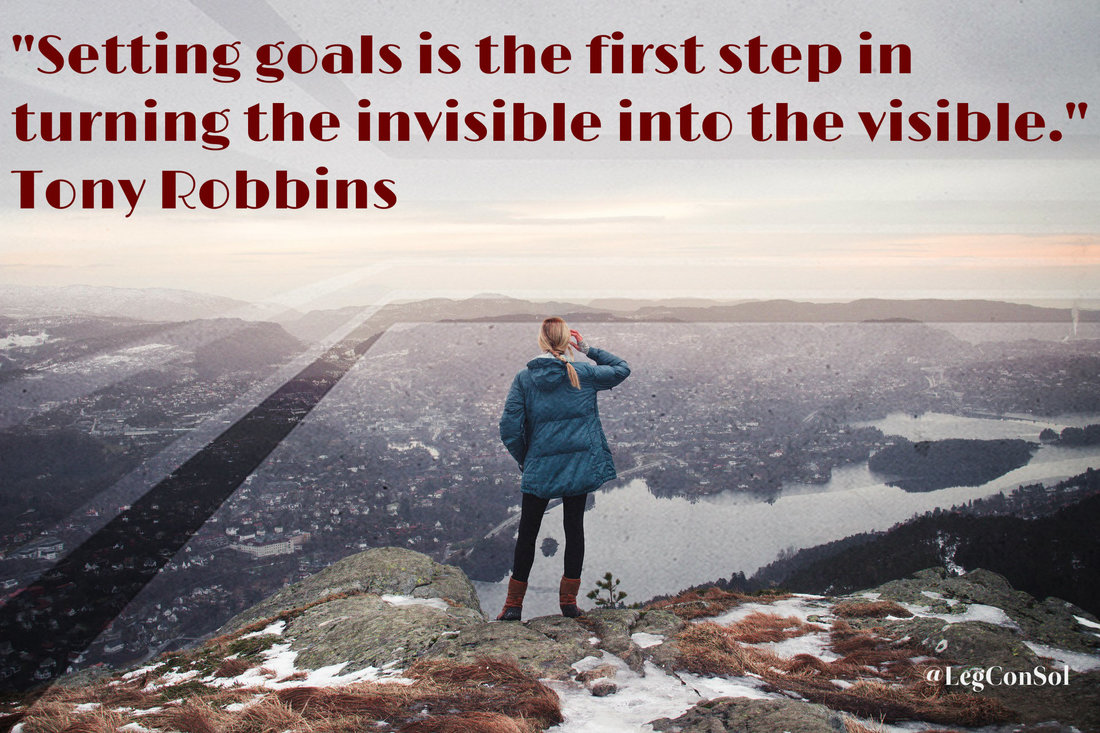 Setting goals is the first step in turning the invisible into the visible.~ Tony Robbins