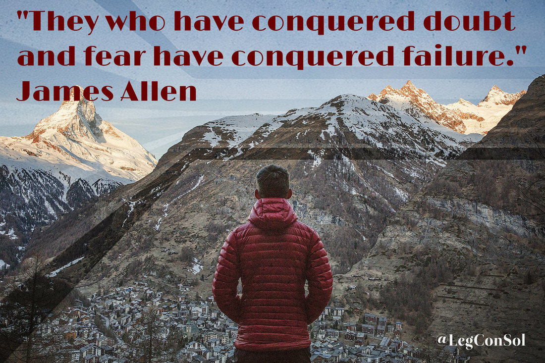 They who have conquered doubt and fear have conquered failure.~ James Allen