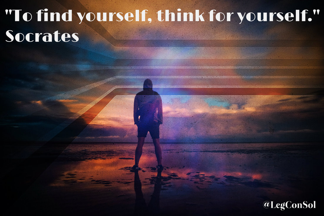 To find yourself, think for yourself.~ Socrates