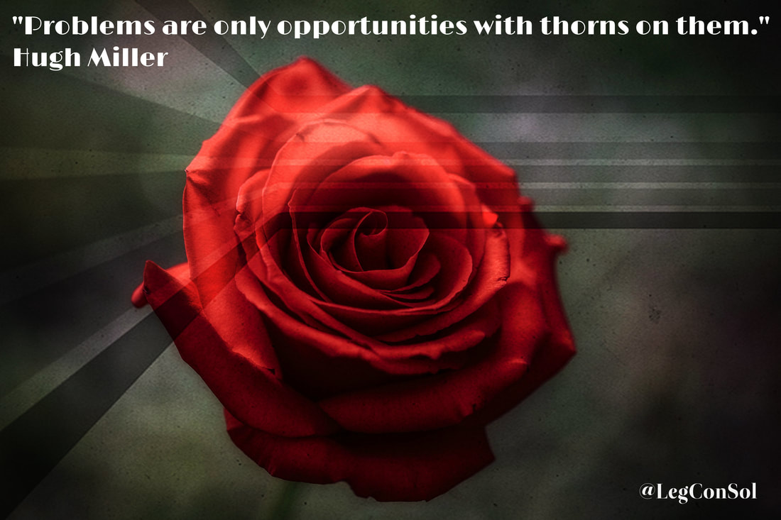Problems are only opportunities with thorns on them.~ Hugh Miller